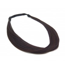 Headband mèches cheveux chatain