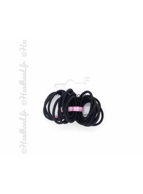 Mini-élastiques noir x 20