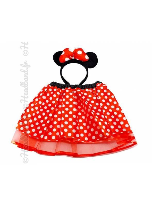 Tutu à pois et serre-tête Minnie Mouse