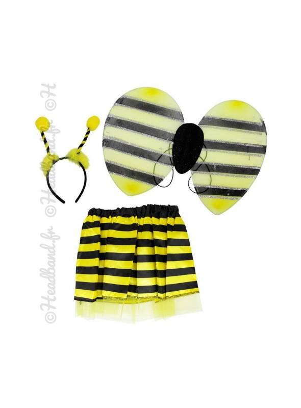 Serre-tête et ailes abeille pour enfant