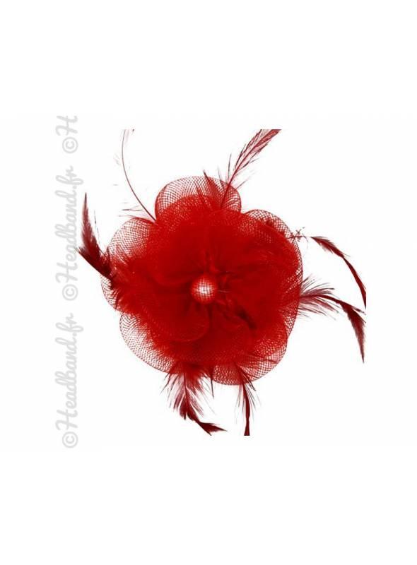 Bibi tulle fleur rouge