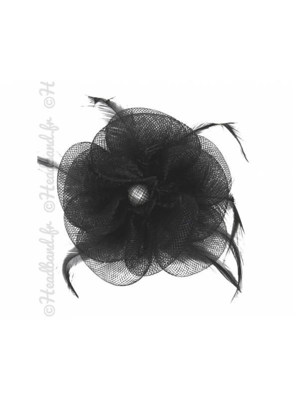 Bibi tulle fleur noir