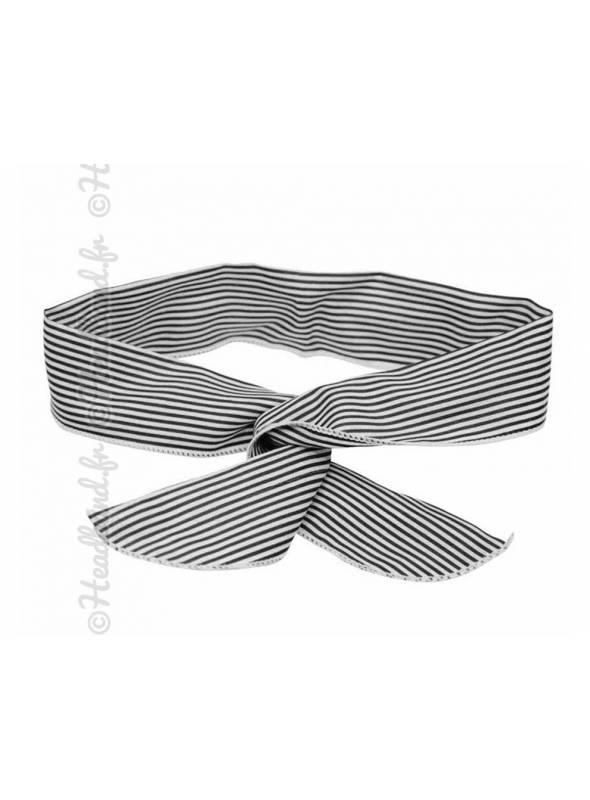 Bandeau fil de fer rayé noir