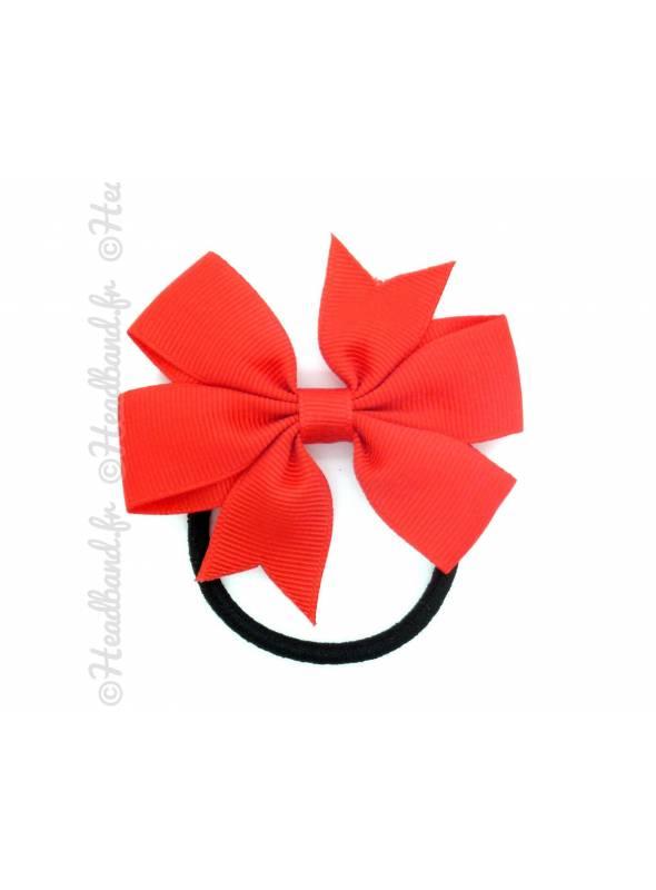 Elastique noeud fille rouge