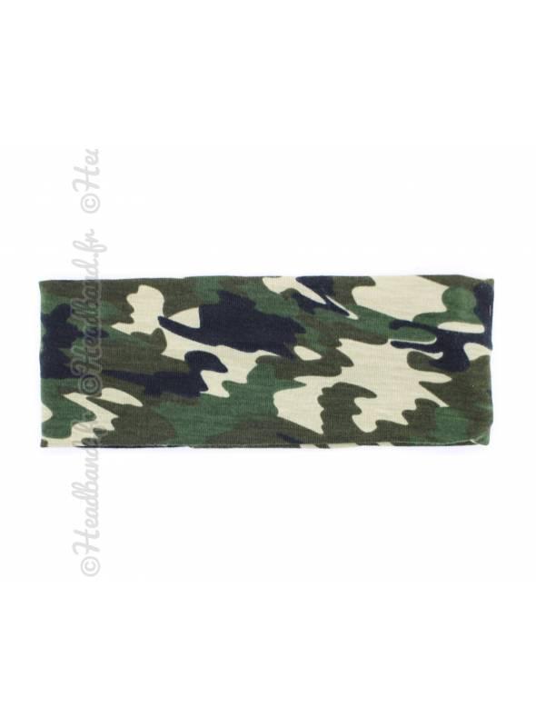 Bandeau jersey camouflage 6,5 cm
