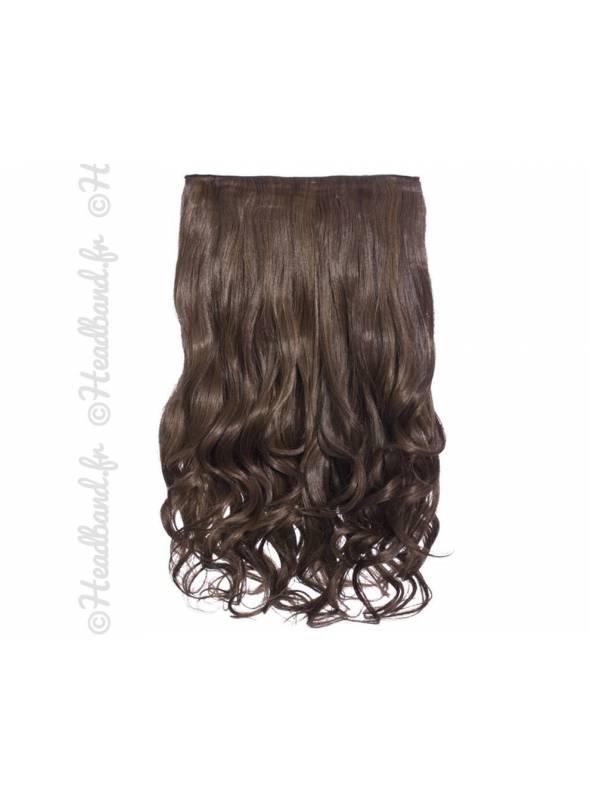 Extension cheveux monobande ondulée 45 cm - Brunette