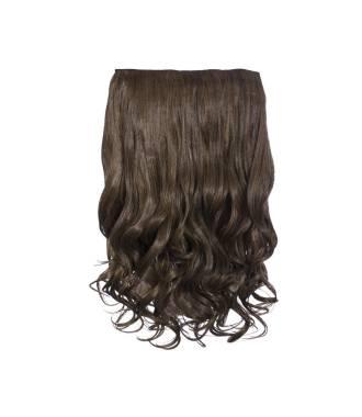 Extension cheveux monobande ondulée 45 cm - Châtain caramel