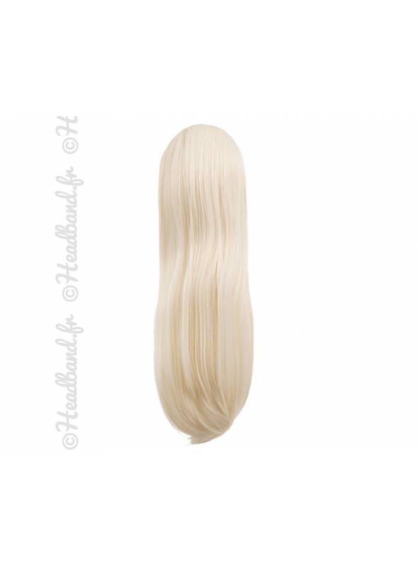 Postiche queue de cheval raide 60 cm - Blond très clair