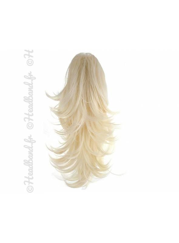 Postiche ponytail réversible pince crabe - Blond clair