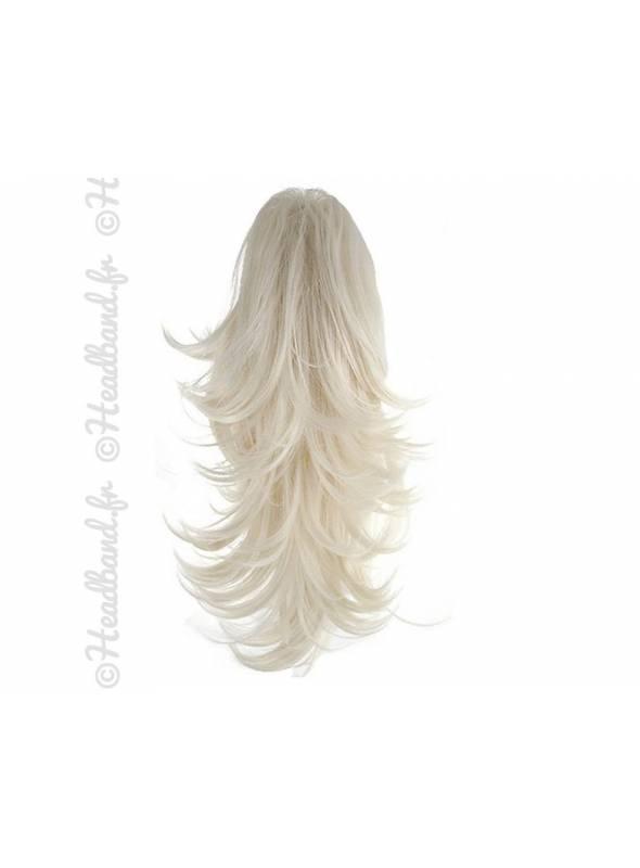 Postiche ponytail réversible pince crabe - Blond très clair