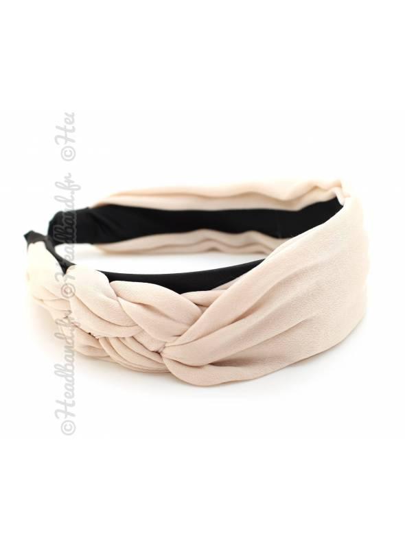 Serre-tête mousseline noeud marin beige
