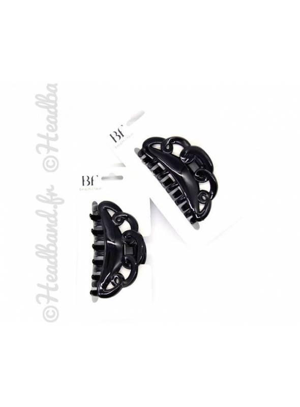 Set de 144 élastiques cheveux noir 5 mm