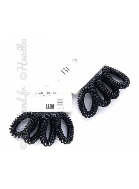 Lot de 4 petits élastiques cheveux spirales
