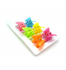 Lot de barrettes papillons multicolores