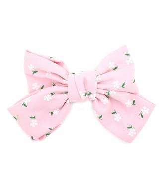 Pince maxi-noeud fleuri rose