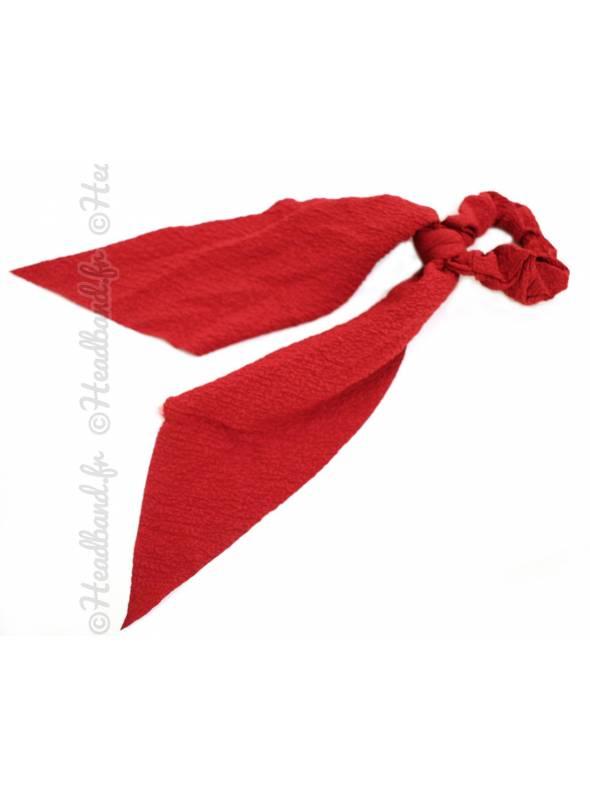 Chouchou ruban uni rouge