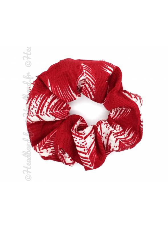 Chouchou large feuillage rouge