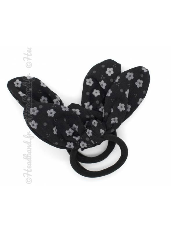 Set de 2 chouchous fille fleur noir
