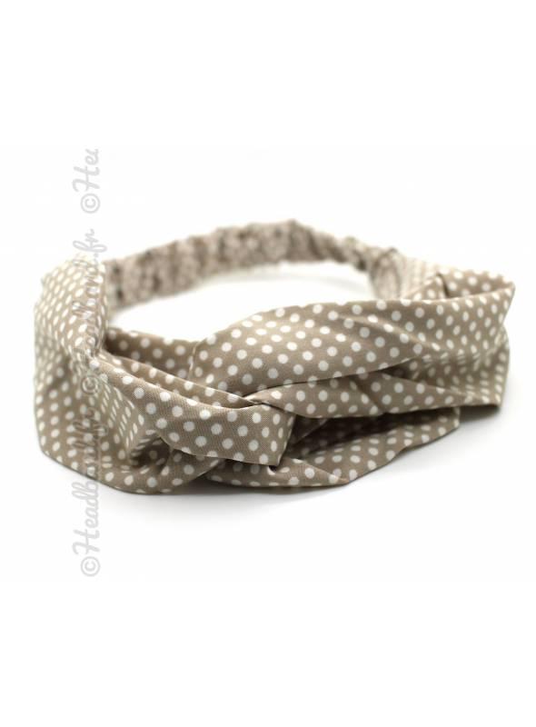 Headband noeud serpent velours rose
