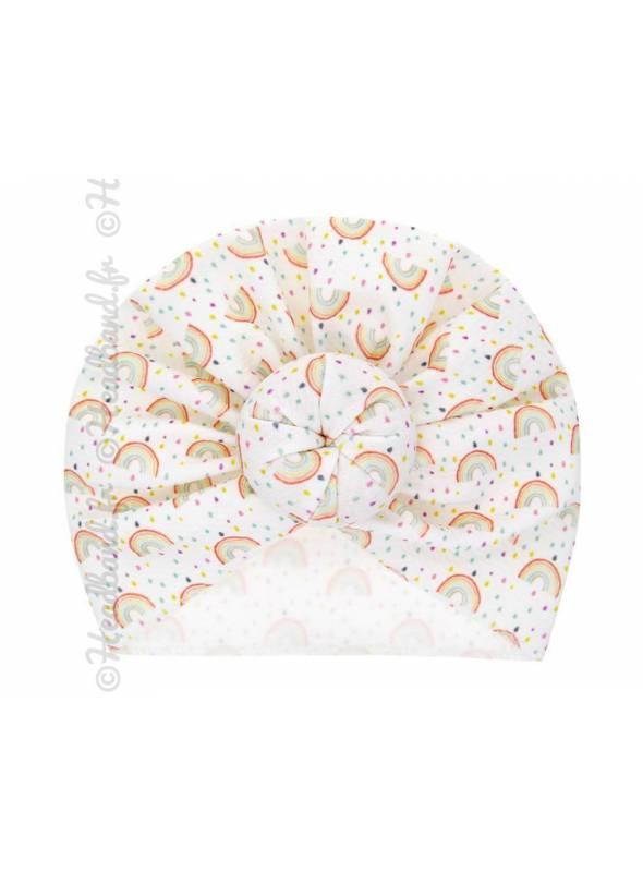 Turban motif arc en ciel