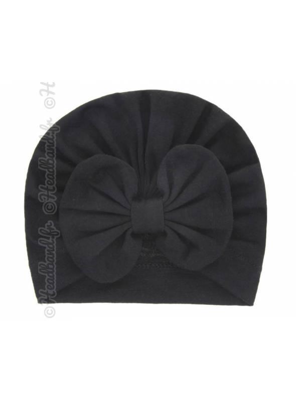 Turban intégral fille noeud noir