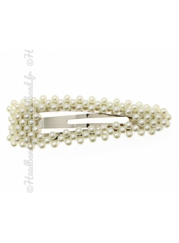 Pince perles blanches clic-clac