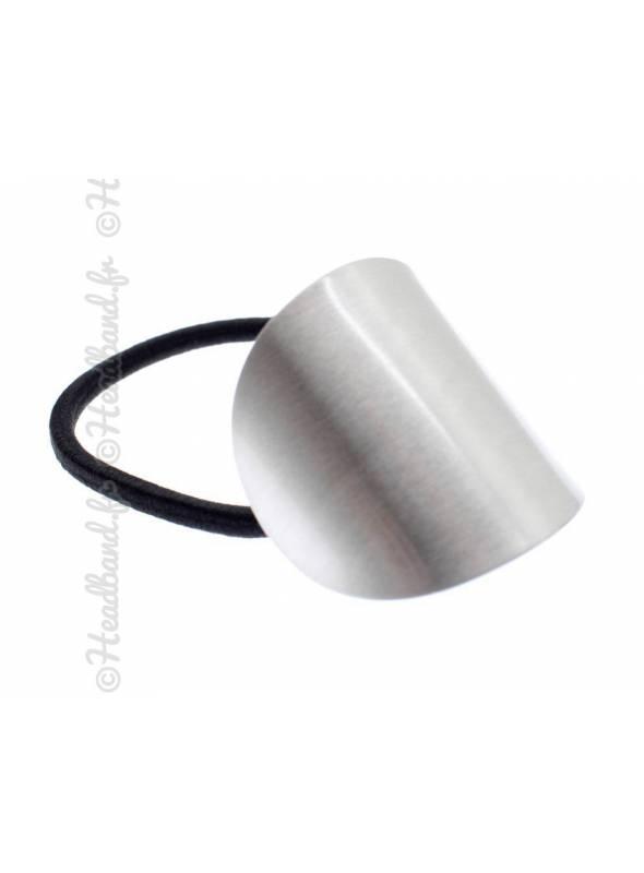 Elastique empiècement métal argenté
