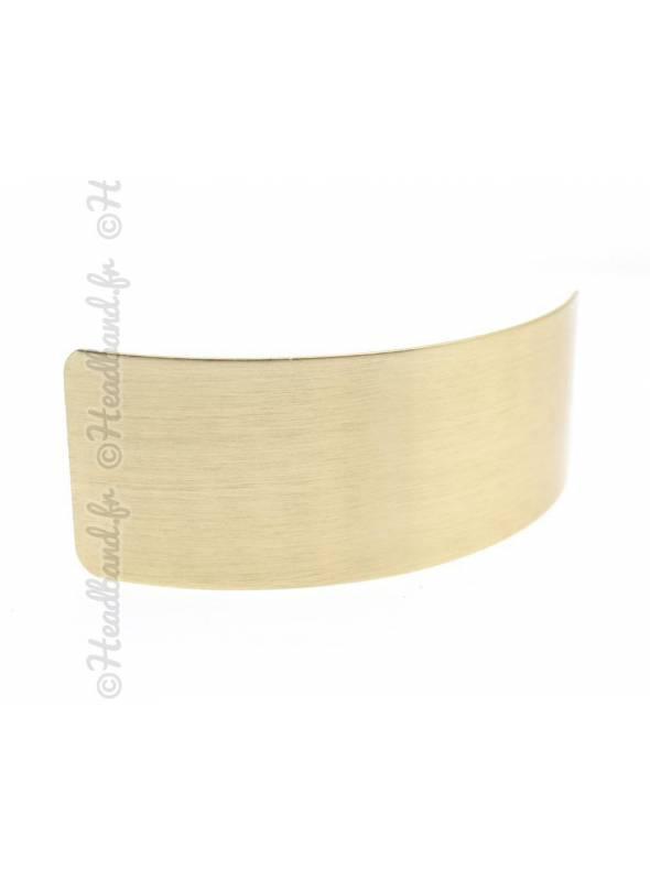 Pince rectangle métal brossé doré