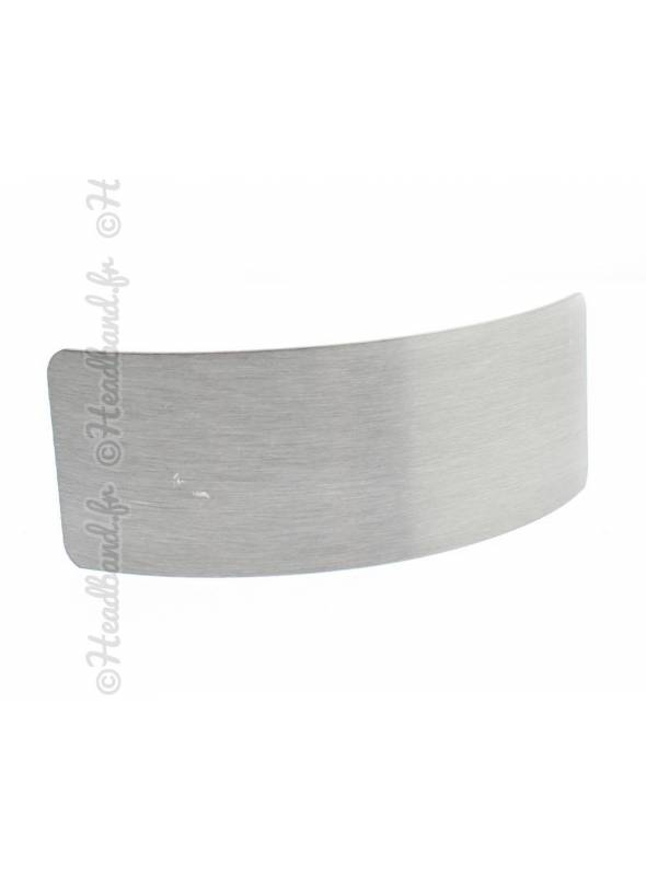 Pince rectangle métal brossé argenté