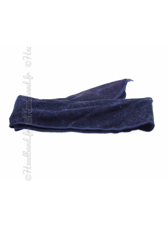 Bandeau à nouer velours bleu