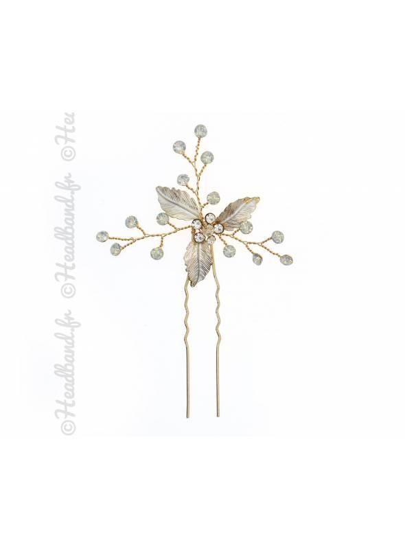 Epingle chignon fleur nacrée