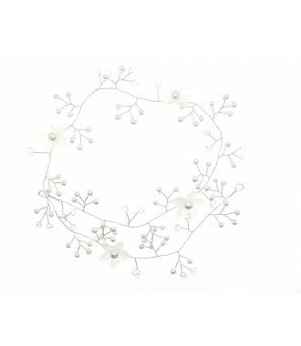 Tiare fleurs blanches romantique