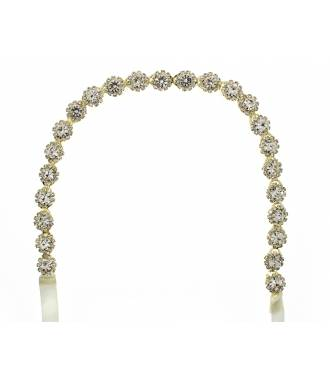 Bandeau mariage fleurs perles et strass Enoline