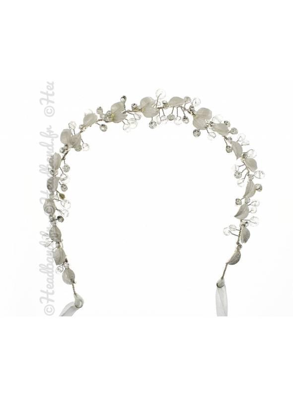 Headband de mariage petites feuilles Mariel
