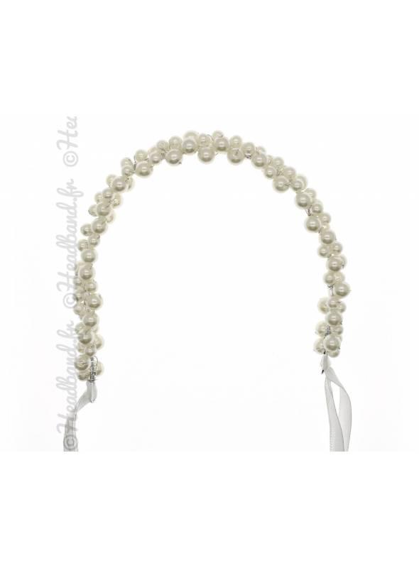 Bandeau mariée perles nacrées