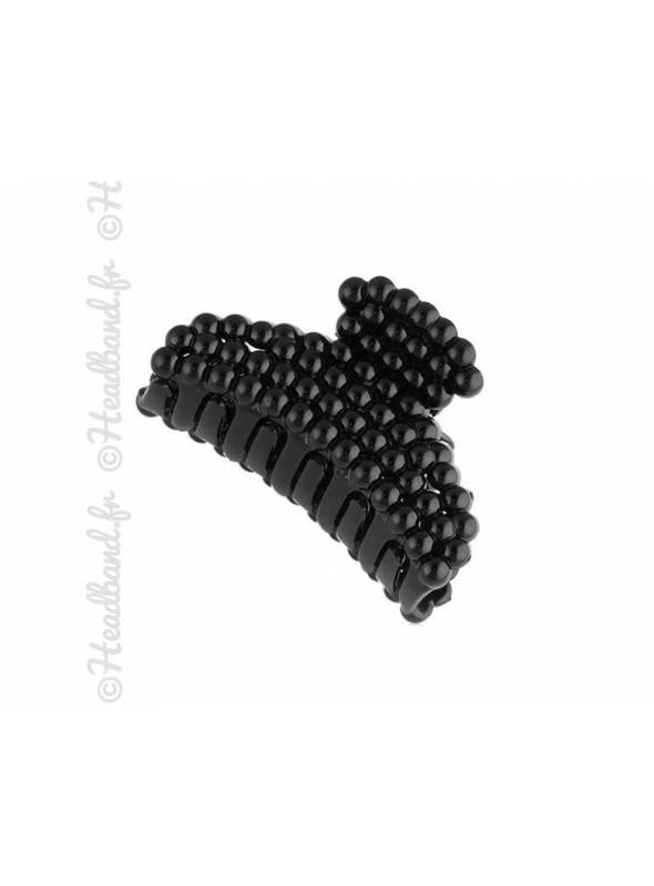 Pince crabe noire perles 4,5 cm