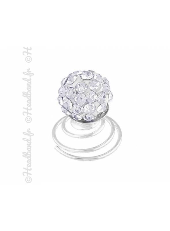 Curlies chignon avec cristal fantaisie
