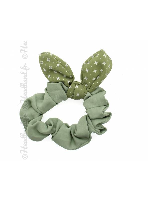 Chouchou fille noeud vert pastel