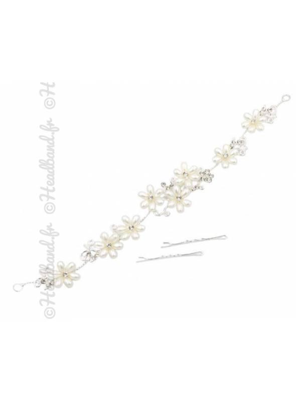 Tiare fleur métal doré Juliette