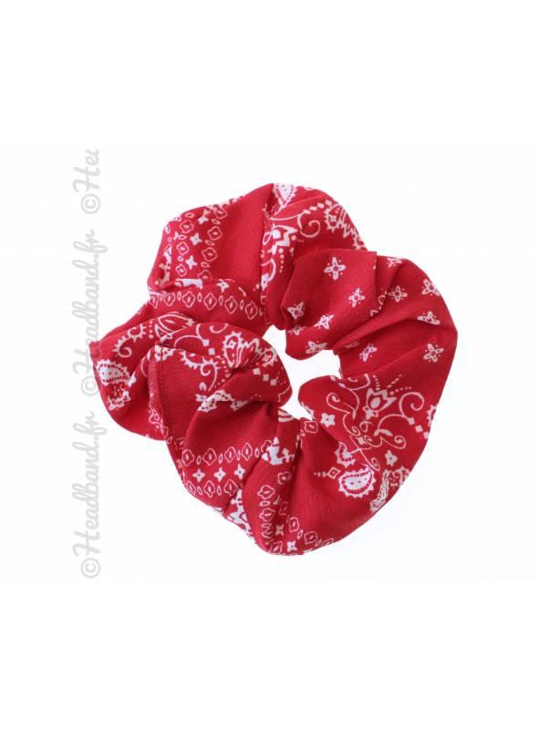 Chouchou motif bandana rouge