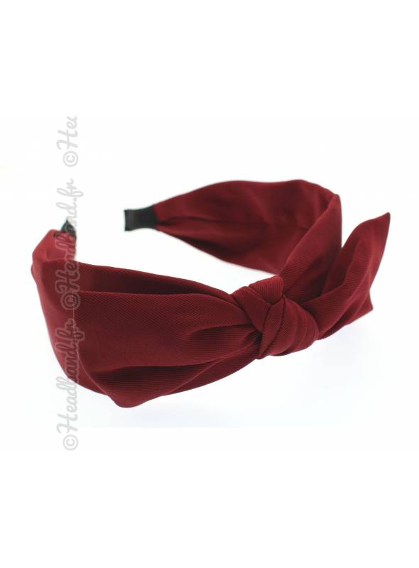 Serre-tête simple noeud uni rouge