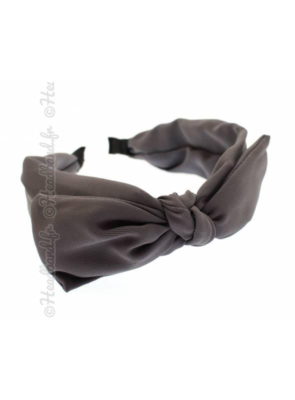 Serre-tête simple noeud uni gris