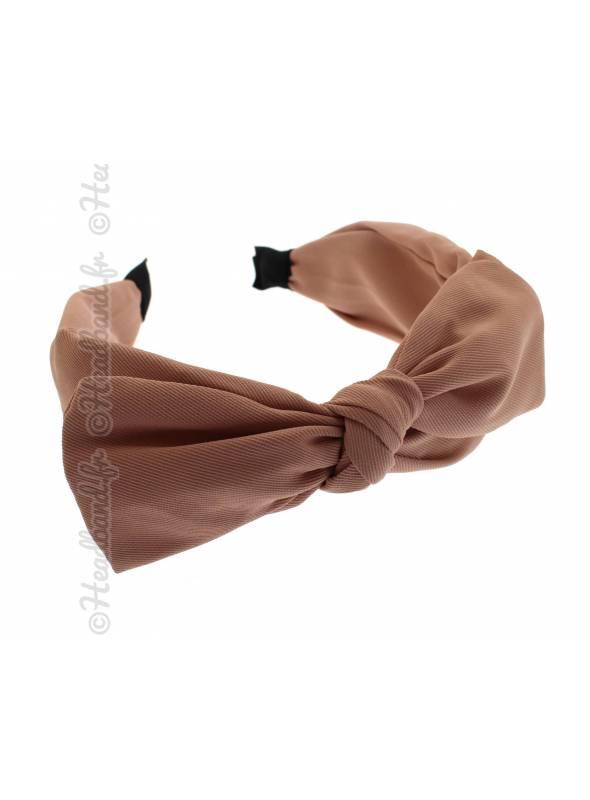 Serre-tête simple noeud uni rose