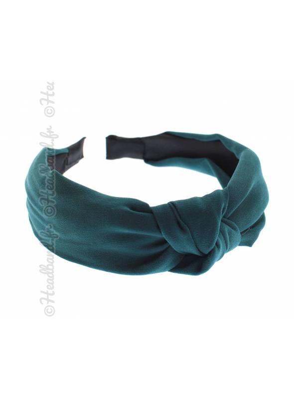 Serre-tête rétro turban mousseline vert