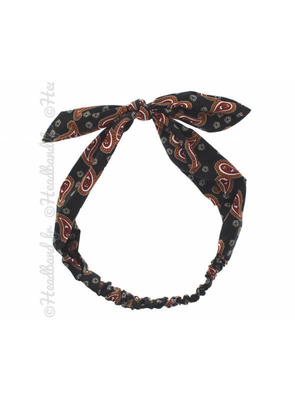 Headband noeud vintage noir