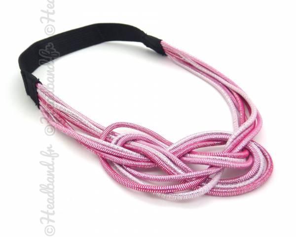 Headband noeud marin rose