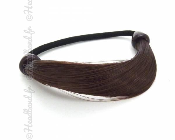 Elastique mèches cheveux châtain