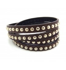 Bracelet simili cuir marron