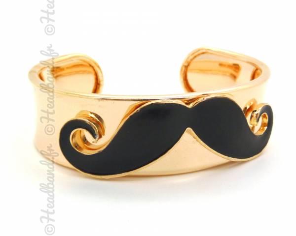 Bracelet moustache noir