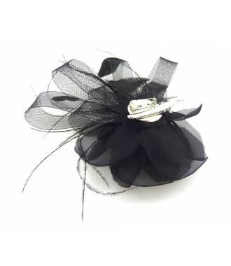 Barette bibi fleur noire 2